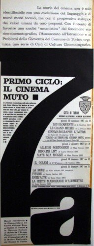 1967 città di Torino cinemamuto locandina 35x100