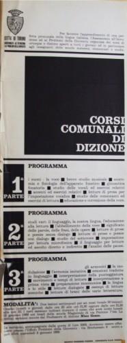 1968 città di Torino corsi dizione locandina 35x100