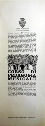 1968 città di Torino corsi pedagogia mus. locandina 35x100