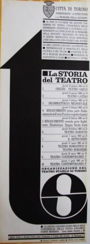 1968 città di Torino teatro stabile locandina 35x100