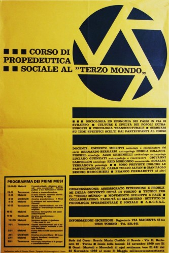 1969 assessorato gioventù torino manifesto