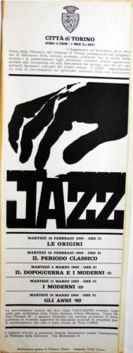 1969 città di Torino concerto locandina 35x100