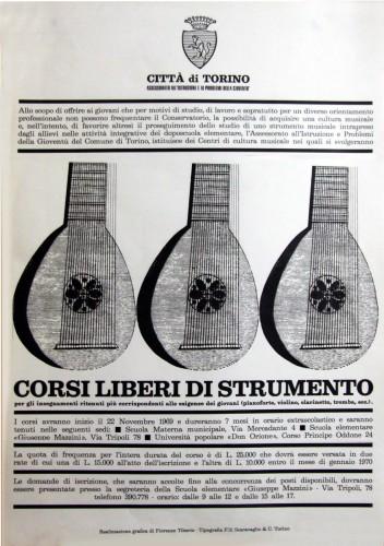 1969 città di Torino corsi di strumento manifesto 50x70