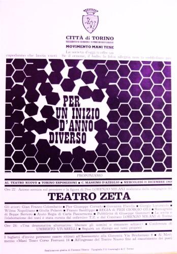 1969 città di Torino teatro zeta poster 50x70