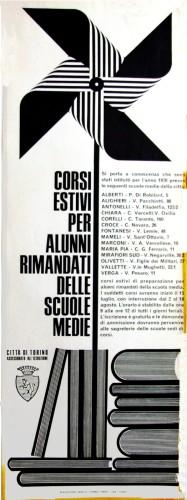 1970 città di Torino corsi. locandina 35x100