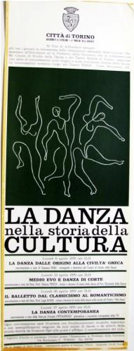 1970 città di Torino danza locandina 35x100
