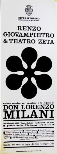 1970 città di Torino e teatro zeta locandina 35x100