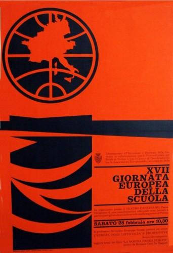 1970 città di Torino giornata europea manifesto 70x100