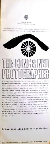 1970 città di Torino mostra fotografia locandina 35x100
