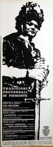 1970 città di Torino tradizioni locandina 35x100