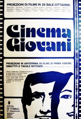 1971 città di Torino cinema manifesto 70x100