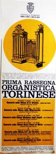 1971 città di Torino concerti organo locandina 35x100