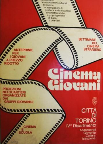 1972 città di Torino cinema giovani manifesto 70x100