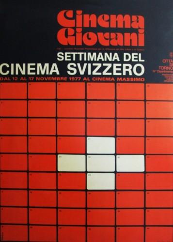 1972 città di Torino cinema svizzero manifesto 70x100