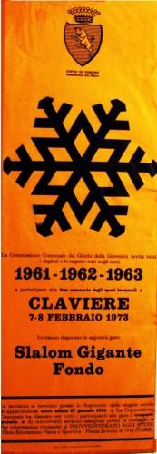 1973 città di Torino locandina gare sci