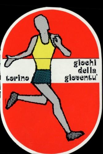 1975 giochi gioventù adesivo