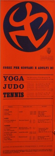 1976 città di Torino  locandina corsi sportivi