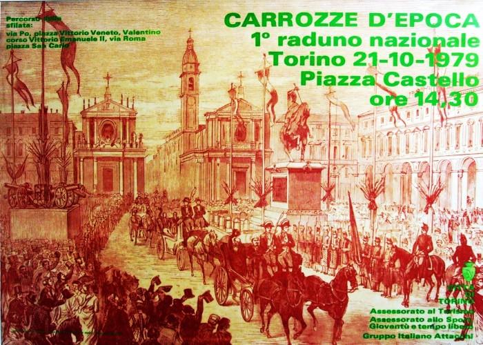 1979 città di Torino carrozze... poster 70x100