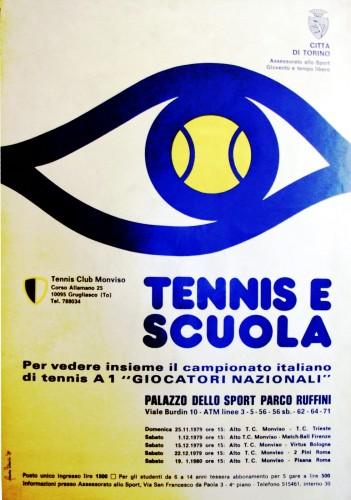 1979 città di Torino tennis manifesto 70x100