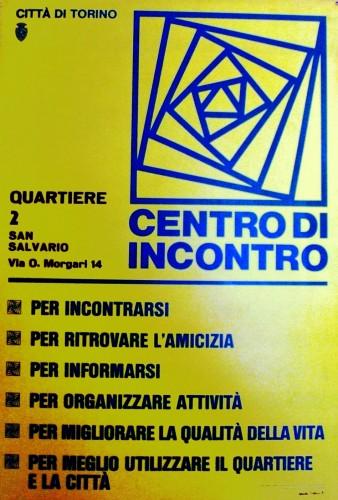 1980 città di Torino centro incontri poster 70x100