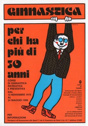 1980 città di Torino ginnastica  pieghevole