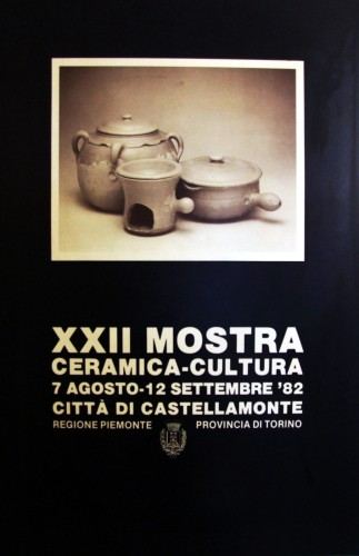 1982 città di Castellamonte mostra manifesto 70x100
