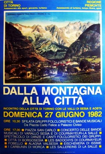 1982 città di Torino montagna poster 70x100