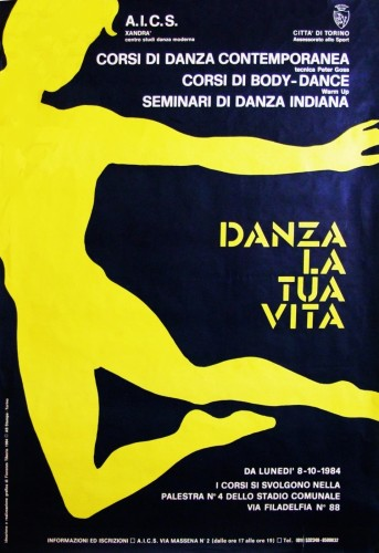 1984 città di Torino aics manifesto 70x100