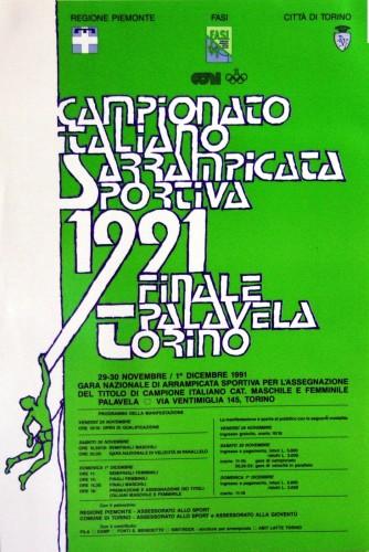1991 fasi Torino campionati locandina 35x50