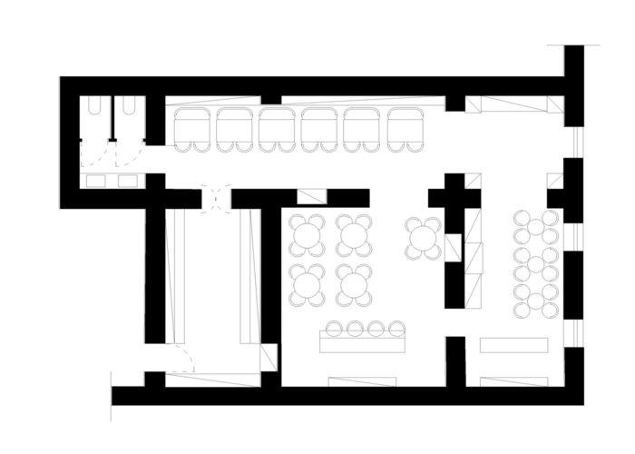 Architettura Tiberio_vineria-Paguro-bernardo_2000_moncalieri_planimetria