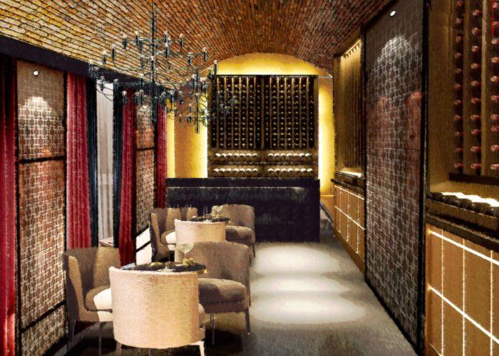 Architettura Tiberio_vineria-Paguro-bernardo_2000_moncalieri_sala bar