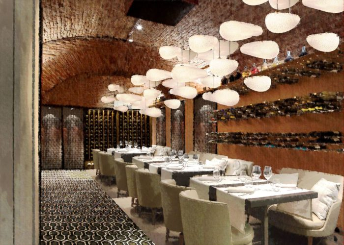Architettura Tiberio_vineria-Paguro-bernardo_2000_moncalieri_sala ristorante