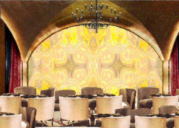 Architettura Tiberio_vineria-Paguro-bernardo_2000_moncalieri_sala-volta-lounge-marmo-retroilluminato
