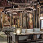 salotto di una casa storica di stile barocco
