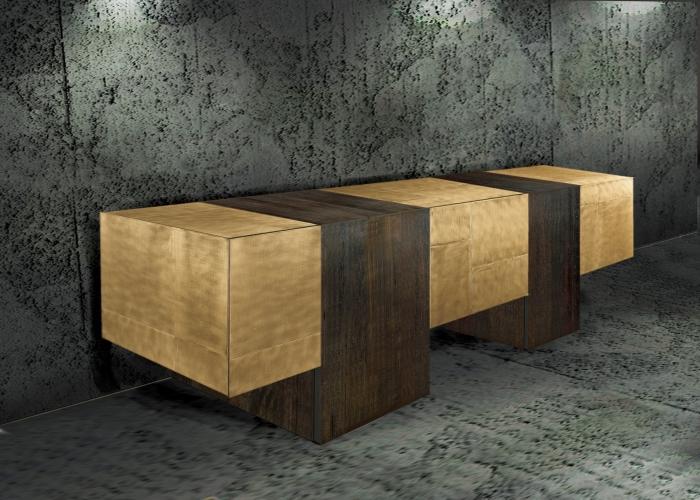 ArchitetturaTiberio_shou sugi ban brown+gold _cassettone 2