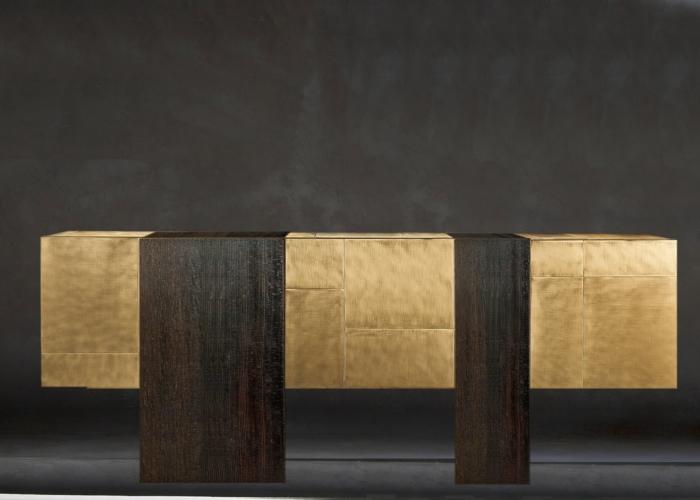 ArchitetturaTiberioshou sugi ban brown+gold _cassettone