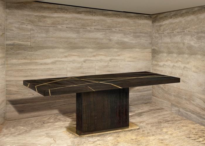 ArchitetturaTiberioshou sugi ban inlay tavolo ambiente 2