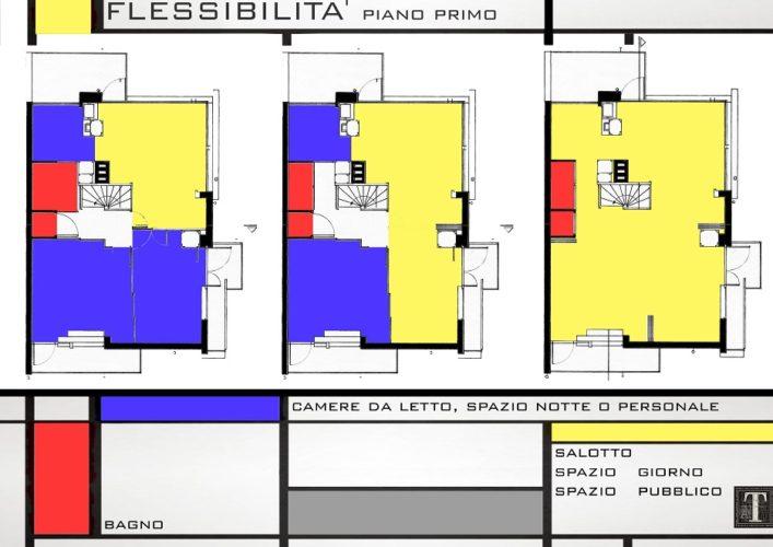 Great casa schrder la flessibilit degli ambienti with for Planimetrie della casa piscina con bagno
