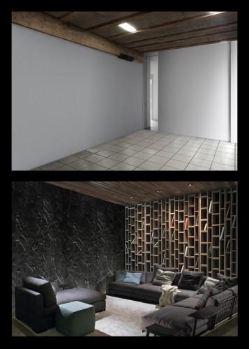 appartamento coud_prima e dopo_biblioteca