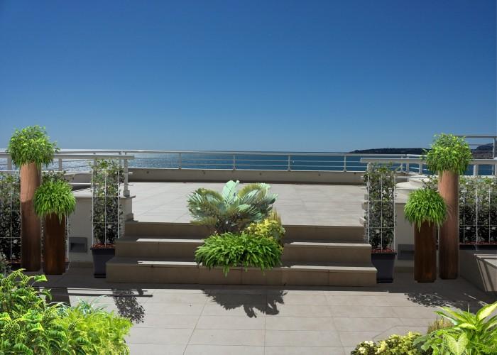 architetturaTiberio_Penthouse Garavan98_terrazza scala vs t alta piscina piante
