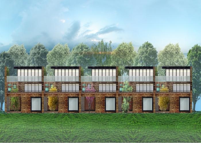 Case a schiera aia architettura tiberio for Architettura case