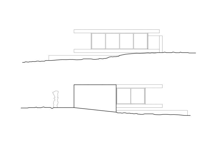 architetturatiberio_maison pieds dans l'eau_2002_élévation es-ouest