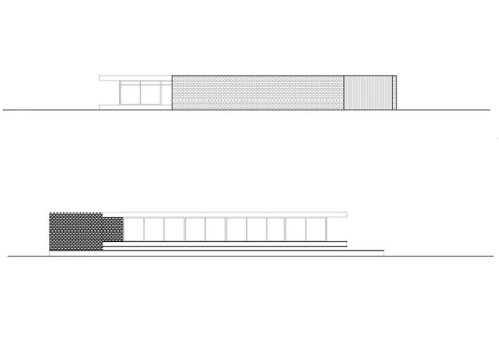architetturatiberio_maison pieds dans l'eau_2002_élévation  nord-sud