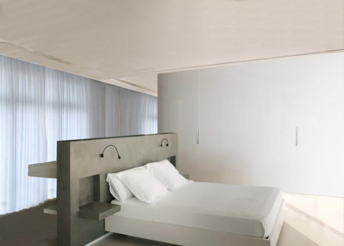 architetturatiberio_maison pieds dans l'eau_2002_chambre