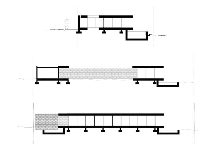 architetturatiberio_maison pieds dans l'eau_2002_coupes