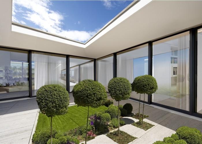 architetturatiberio_maison pieds dans l'eau_2002_cour