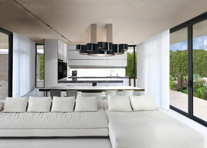 architetturatiberio_maison pieds dans l'eau_2002_salon cuisine