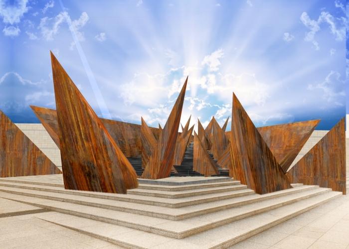 architetturatiberio_monumento shoà 2_2015_bologna_render 1