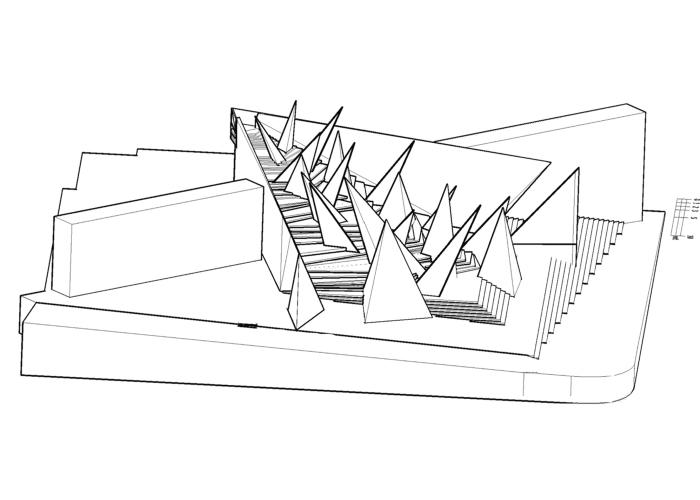 architetturatiberio_monumento shoà_2015_bologna_dt assonometria
