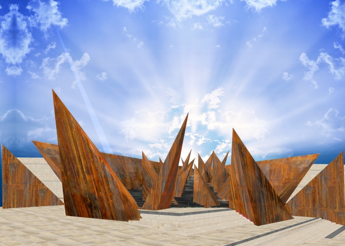architetturatiberio_monumento shoà_2015_bologna_render 1